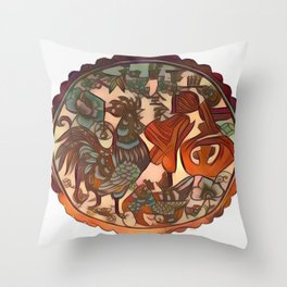Chinese New Year Rooster Greetings Throw Pillow