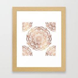 Mandala Rose-Gold Shine Framed Art Print