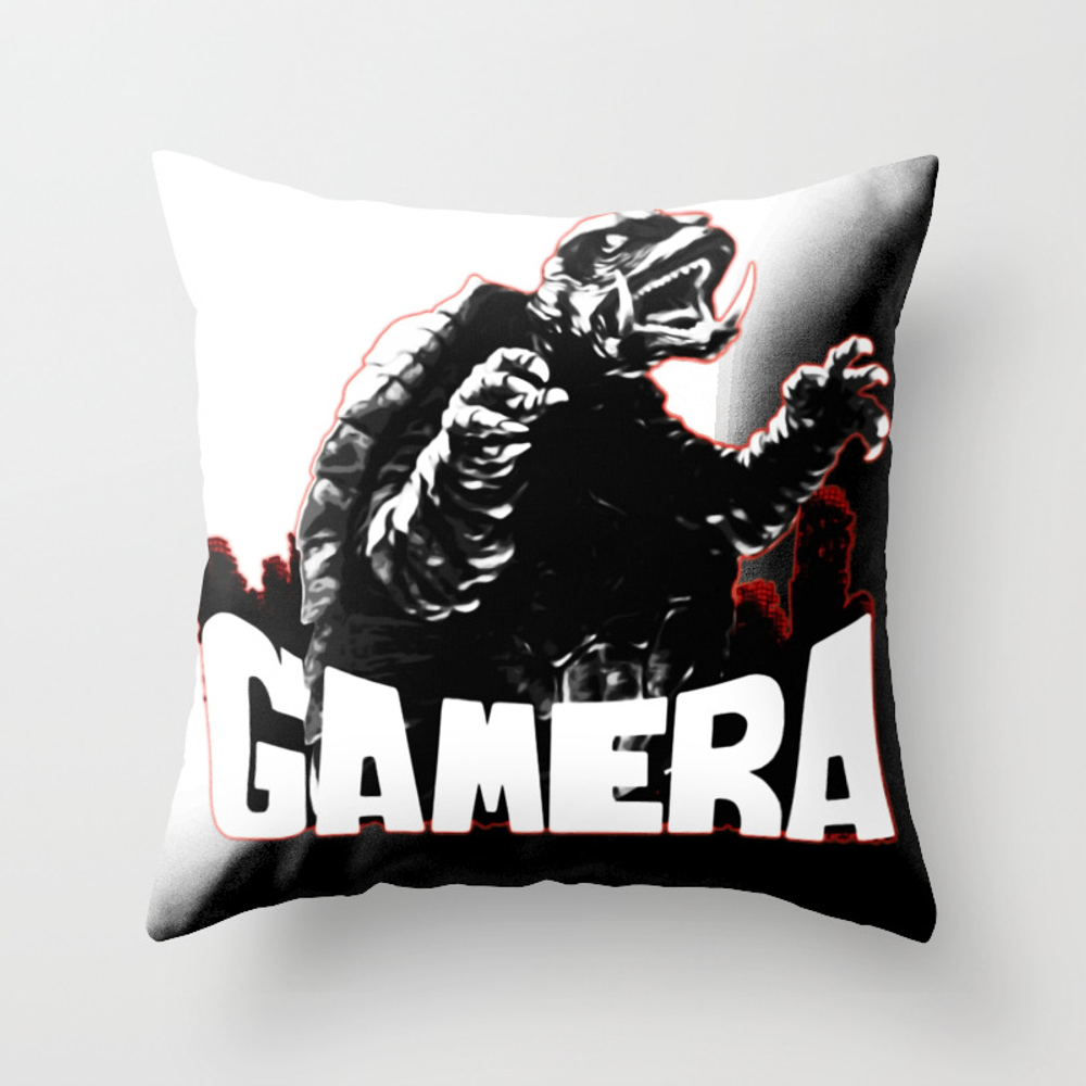 Gamera ?����ǣ Guardian Of The Universe Throw Pillow by Thanart PLW8965769