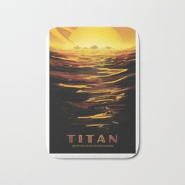NASA Visions of the Future - Titan: Ride the tides through the throat of Kraken Bath Mat