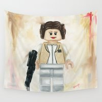 leia Wall Tapestries featuring Lego Princess Leia by Toys 'R' Art