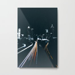 Atlanta Georgie Skyline at Night Metal Print