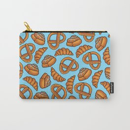 Freshly Baked Goods on Blue Carry-All Pouch