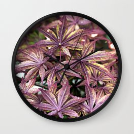 Japanese Maple Leaves Wall Clock