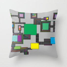 Freya Panels Throw Pillow