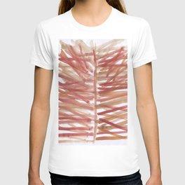 watercolor lines palm leaf 14 T-shirt