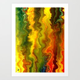 Colorful Thoughts by rafi talby Art Print