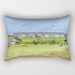 Across the Green Rectangular Pillow