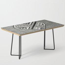 Modern, black and white, geometric shaped heart Coffee Table