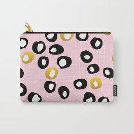 Dots Black & Gold Carry-All Pouch