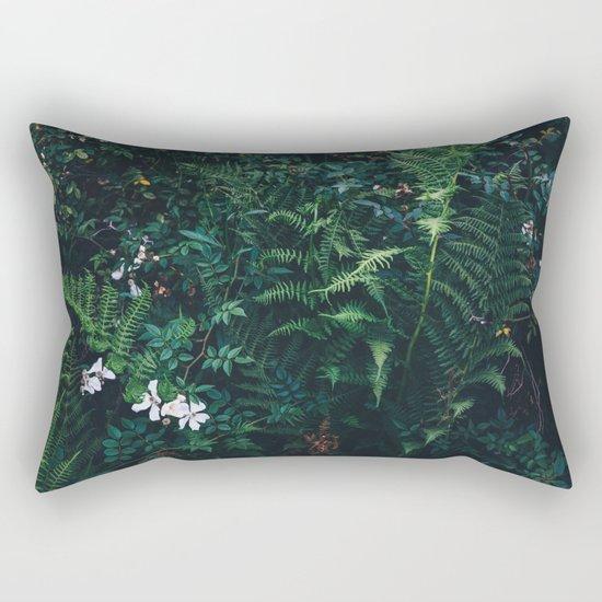 Fleurs Vertes Rectangular Pillow