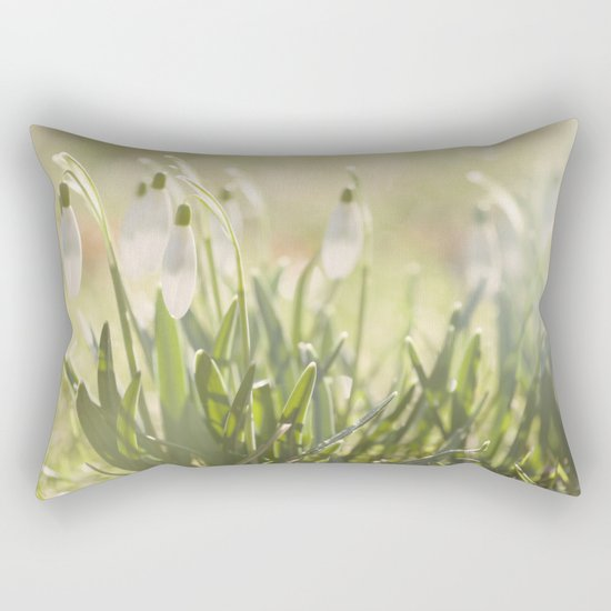 Spring is ringing - Snowdrop Snowdrops Rectangular Pillow