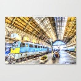Keleti Railway Station Budapest Art Canvas Print