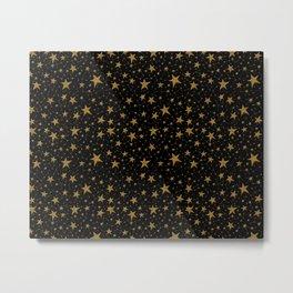 Starry Night Gold Twinkles Metal Print
