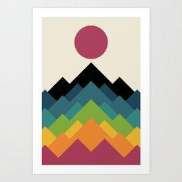 Life Is A Mountain Art Print
