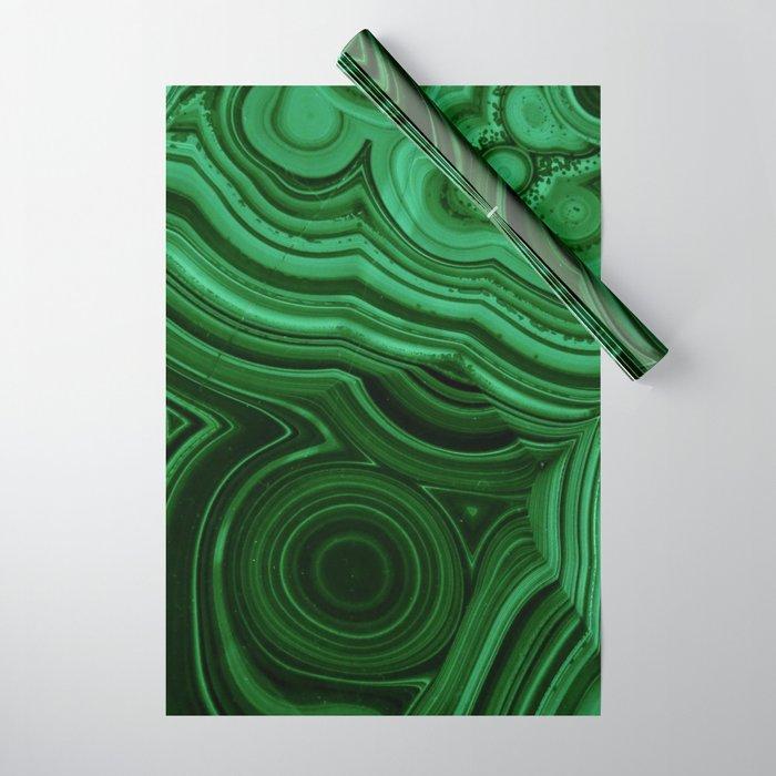 GREEN MALACHITE STONE PATTERN Wrapping Paper