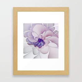 Coquette Purple Abstract Floral Framed Art Print