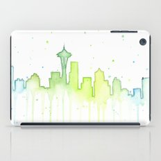 Seattle Skyline Watercolor iPad Case