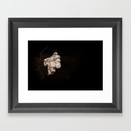 Minimal Rose at Night Framed Art Print