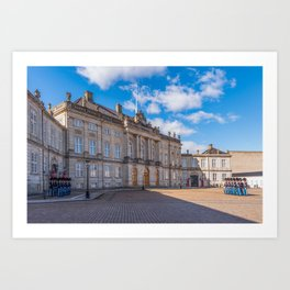 Changing the guard in Copenaghen Art Print