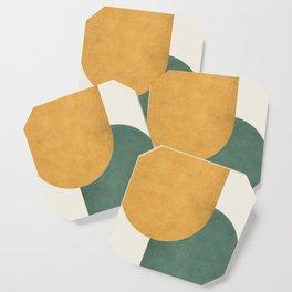 Halfmoon Colorblock 2 - Gold Green  Coaster