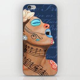 Billie Holiday Dia De Los Muertos iPhone Skin