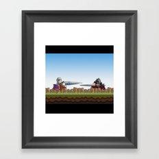 Joust It Framed Art Print