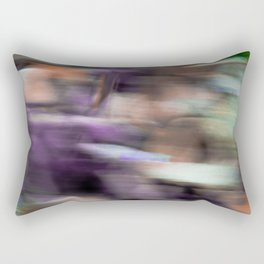 Fast in Flight - A Colorful Abstract Motion Blur Rectangular Pillow