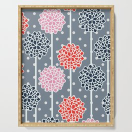 Blossom pattern with dots Serving Tray