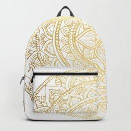 Hand Drawn Gold Bali Mandala Backpack