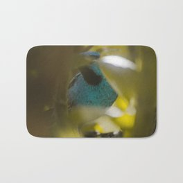Blue Bird Bath Mat