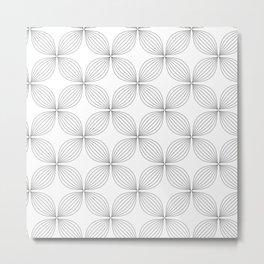 Flower Lines Metal Print
