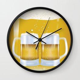 illustration of beer glass, Beer Wall Clock