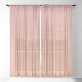 AFTER FALL - Minimal Plain Soft Mood Color Blend Prints Sheer Curtain