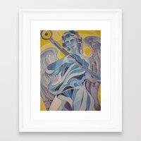 nico di angelo Framed Art Prints featuring angelo by Dania Beatriz Jimenez