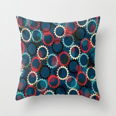Flores de luna Throw Pillow