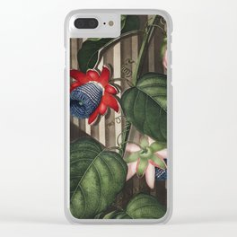 The Winged Passion-Flower from The Temple of Flora (1807) by Robert John Thornton. Clear iPhone Case