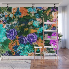 Multicolor Floral Wall Mural