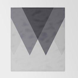 Sawtooth Blue Grey Throw Blanket
