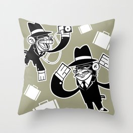 Köpke's Mafia Monkeys! Throw Pillow