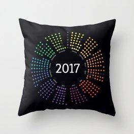 2017 Color / Colour Theory Calendar Throw Pillow