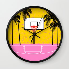 Dope - memphis retro vibes basketball sports athlete 80s throwback vintage style 1980's Wall Clock