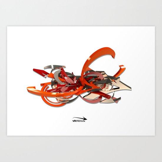 3d graffiti - 'Studio Art Print