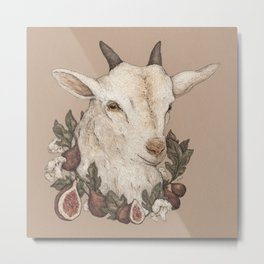 Goat and Figs Metal Print