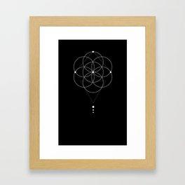Seed Of Life Geometry Black Framed Art Print