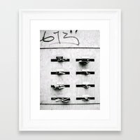 letters Framed Art Prints featuring Letters by Mikeats