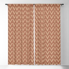 Ligonier Tan SW 7717 V Shape Horizontal Lines on Cavern Clay SW 7701 Blackout Curtain