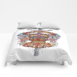 Mutant Day of the Dead Skull Comforters