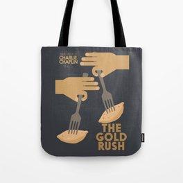 The gold rush, movie illustration, Charlie Chaplin film, vintage poster, Charlot, b&w cinema Tote Bag