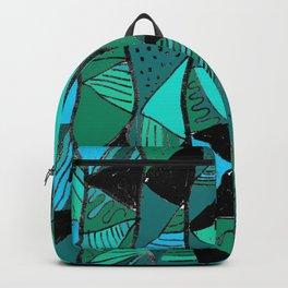 Black & Green Triangles Backpack